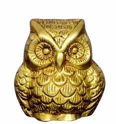Brass Vintage Owl Bird Statue/Figure Sculpted