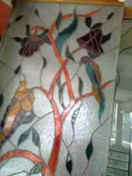Multicolor Designer Glass, For Home