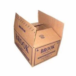 Brown Printed Corrugated Box