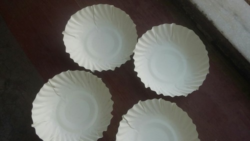 White Wrinkle Paper Plate, Packaging Type: Packet