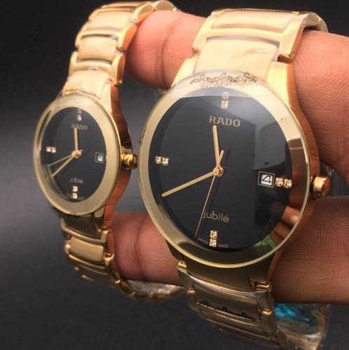 Golden Stainless Steel Rado Jubile Couple Watch Id