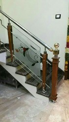 Stainless Steel Railing Contractors, For House, Dimension / Size: 3