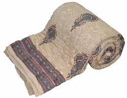 Ramdev Handicrafts Cotton Hand Block Printed Quilt