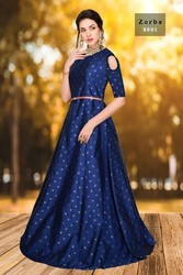 94a998e60523 8 COLORS SHUBHNX-ASHIRWAD AGENCY PARTY WEAR SILK GOWN