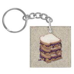 Acrylic Sandwich Key Chain