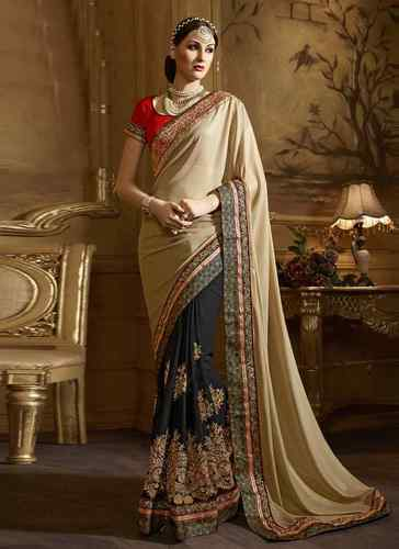 94ef67798 Georgette Modern Stylish Saree With Blouse Piece, Rs 3539 /piece ...