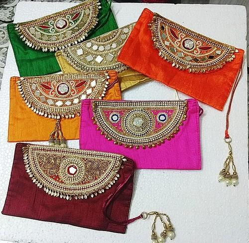 Cloth Rectangular Shagun Envelopes