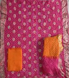 Gadhwal Silk Dress Material