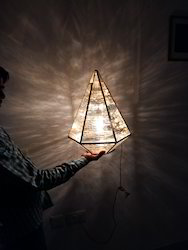 Hanging Lamp with Tinted Glass