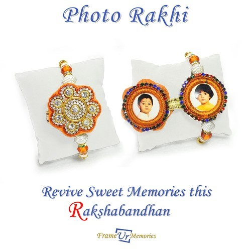 Double Sided Photo Rakhi