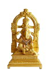24 Carat Gold Coated Ganesha