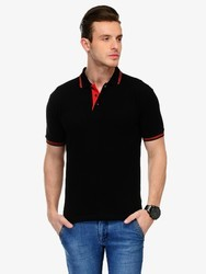 Medium And Large Cotton And Hosiery Collar T Shirt
