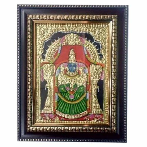 Goddess Padmavathi Tanjore Painting 8 X 6