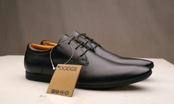 Black, Brown Leather Mens Shoes