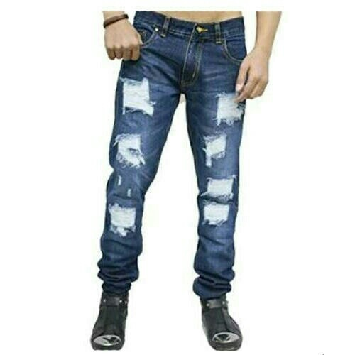 Denim Blue and Dark blue and Black Mens Jeans