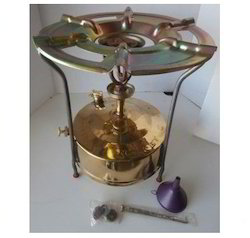 Small Brass Domestic Kerosene Pressure Stove Outdoor Camping