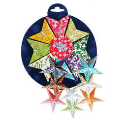 Set Of Eight Tiny Stars- Packed In Round Pack Size 3 Inchs