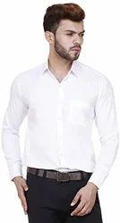Cotton Full White Plain Shirts