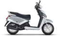 White Mahindra Gusto Scooter