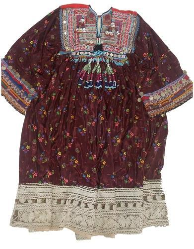3498bc6cbd Afghani Hand Embroidery Mirror Work Dresses - Vintage Tribal Gypsy ...