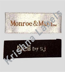 Embroidered Rectangular Woven Labels