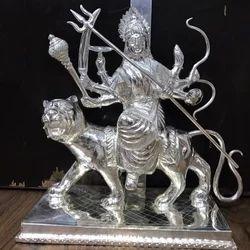 Silver Durga Mata Statue, Packaging Type: Box