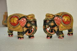 1400 Gram Wooden Painting Elephant