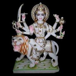 Marble Elegant Durga Statue