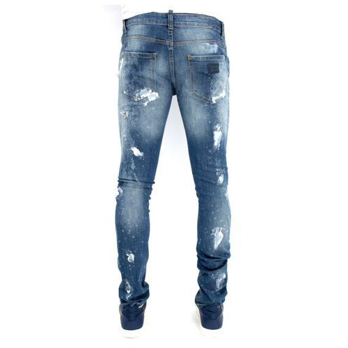 Mens Jeans - Mens Blue White Jeans Manufacturer from New Delhi