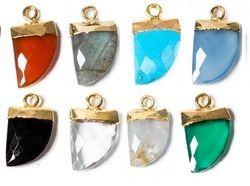Gemstone Horn Shape Pendant