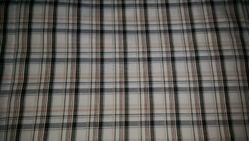 cotton dyed check fabric