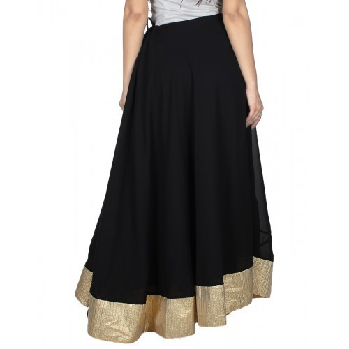 Long black cotton skirt all does
