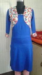 Girl Stitched Cotton Kurti With Jacket