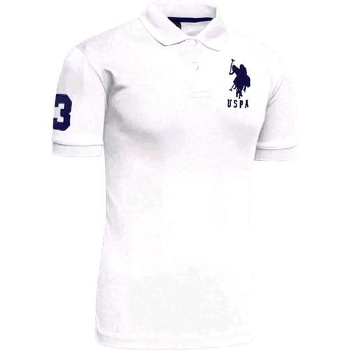 9e915c0fa4e Collar Cotton US Polo White Mens T-Shirt