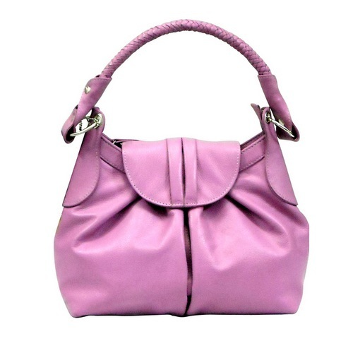 Genuine Leather Pink Trendy Ladies Bag