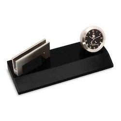 Visiting Card Holder with Watch