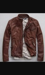 Designer Leather Racing Bike Jacket
