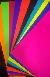 Multi Coloured, A4 Florescent Paper, Application : Art And Craft , Printing