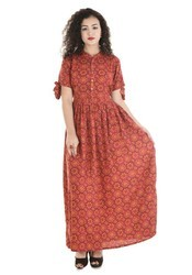 Rayon Floor Length Dress