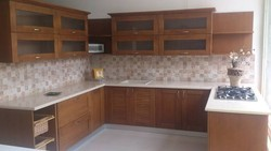 Wooden Modular Kitchen, Warranty: 10-15 Years