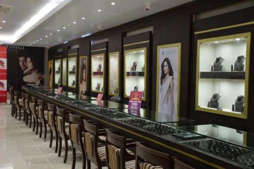 Glass Jewellery Shop Interior Decoration Rs 850 Square Feet Sky Interiors Id 13267622433