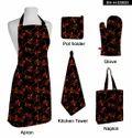 Red Rectangular Halloween Kitchen Set