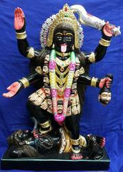 Black Marble Mahakali Statue, for Worship