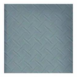 Chequered Steel Grey Vinyl Flooring