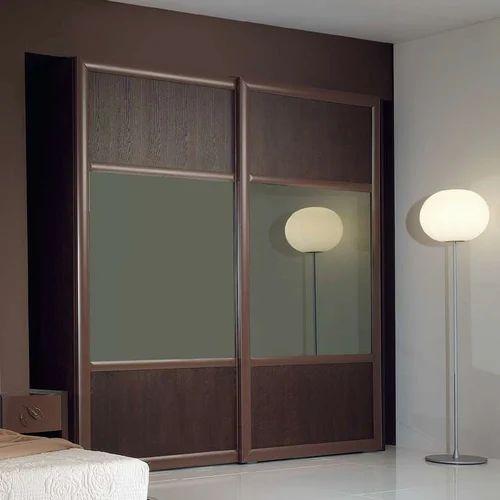 Glass Wood Wardrobe Front Sliding Doors Sizedimension Customized