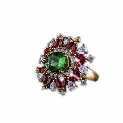 男女通用钻石宝石戒指