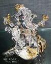 Silver Plated Ganeshji On Shankh