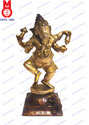 Lord Ganesh Dancing on Sq. Base Statue