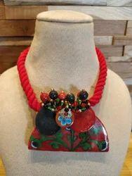 Box Pottery Necklace