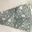 "100% Cotton Printed Smoky Grey Color Table Cloth, Size: 60"" & 90"""